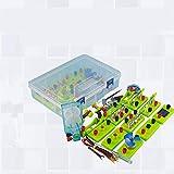 juler Juguetes educativos Stem Toys Science Kits Equipo Experimental Caja de experimentación Circuitos eléctricos Serie de pequeños bulbos Conjuntos de circuitos Paralelos,Verde,Un tamaño