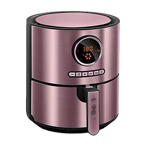Friteusen Luft 3 3 Liter Edelstahl mit digitaler LCD-Anzeige Zeit- und Temperaturregelung 1500 W Antihaft-Pfanne (Farbe: Lila Größe: 26 * 26 * 31 cm)