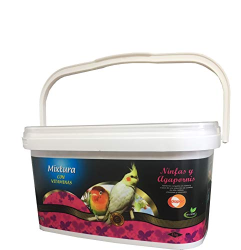 DAPAC Mixtura Premium con Vitaminas Ninfas y Agapornis Bote 5,5 l (4 kg)