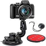 EXSHOW 一眼レフカメラ用大型吸盤マウント 粘着スティッキーパッド 安全テザー付き Canon,Nikon,Olympus,Sony,リコー,Panasonic,富士フイルム,トランセンドジャパン,ELECOMに対応