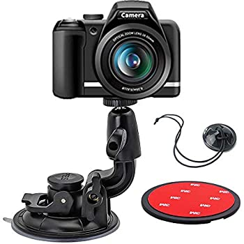 DSLR Scution Cup Mount,Double-Protection-Design with 3M Sticky Pad for Nikon Canon Sony Pentax Olympus KamKorda DURAGADGETDSLR Cameras by WOLEYI