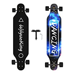 ESSENTIAL INFORMATION: 41 x 9.5 inch 8 floors of natural maple longboard skateboards, ABEC-11 high speed chrome steel bearing, 8 inch 180 aluminum truck. HIGH QUALITY WHEEL: 70x51mm high elastic PU wheels with 80a hardness. GOOD SHOCK ABSORPTION SYST...