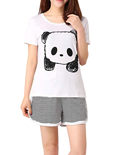 MyFav - Conjunto de pijama para mujer, diseño de panda