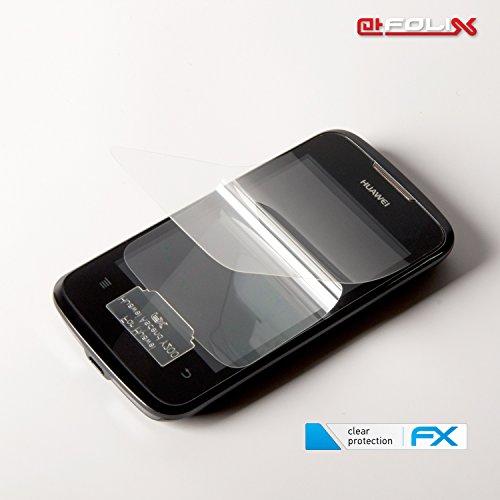 atFoliX Displayschutzfolie für Huawei Ascend Y200 (3 Stück) - FX-Clear: Displayschutz Folie kristallklar! Höchste Qualität - Made in Germany! - 5