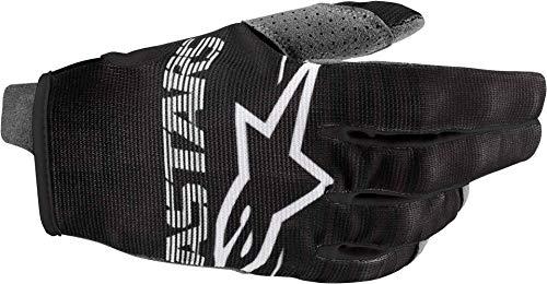 Alpinestars Radar-Handschuhe für Erwachsene, Unisex, Schwarz/Weiß, Größe S (Mehrfarbig, Einheitsgröße