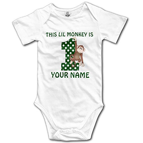 SDGSS Combinaison Bébé Bodysuits 1st Birthday Boy Monkey Personalized Unisex Boys Girls Sleepwear Baby Onesie Clothing
