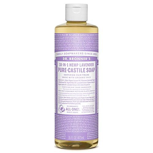 Dr. Bronner's Magic Soaps 18-in-1 Hemp Pure Castile Soaps Lavender 16 fl. oz.