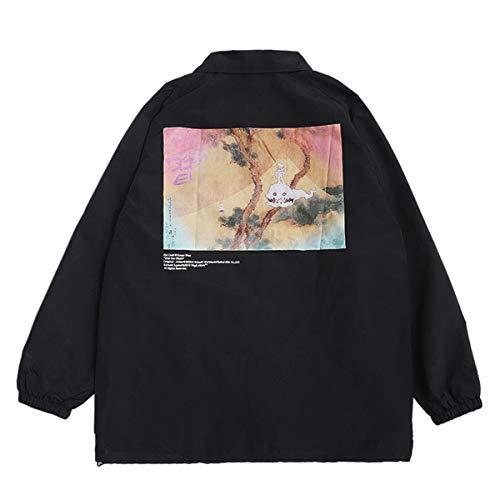 Kids See Ghosts Hiphop Rapper Coat Jacket, Schwarz, M