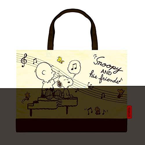 スヌーピー[トートバッグ]カレッジ トート/ピアノ ピーナッツ