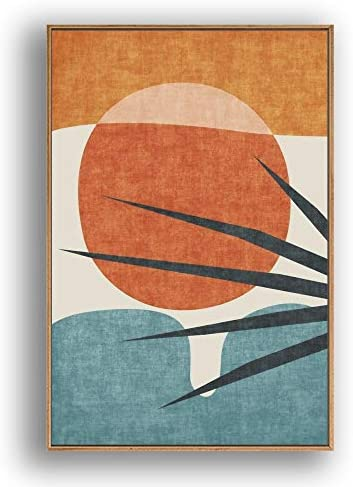 IDEA4WALL Framed Canvas Wall Art Abstract for Living Room Bedroom Color Block Canvas Prints product image