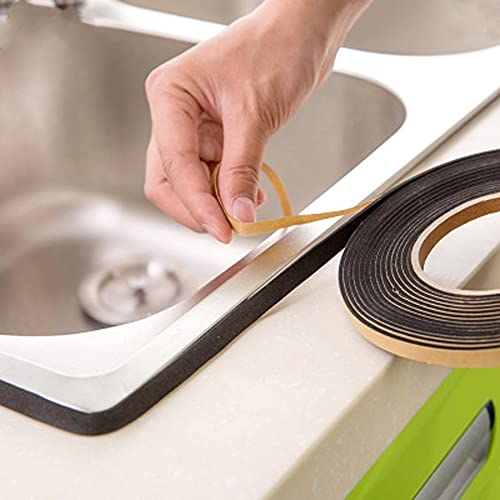 2 Pack Caulk Strip Tape, Tub Caulking Tape Self-Adhesive Decorative Sealing Tape, Dust and...
