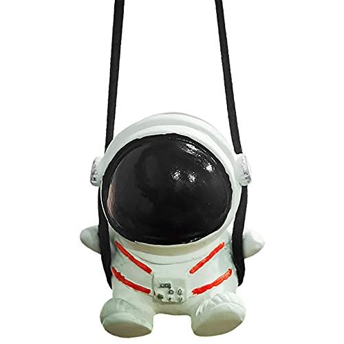 Houssem Schaukel Astronaut Auto Hängendes Ornament, Niedlicher Schaukel Astronaut Anhänger, Auto Rückspiegel Dekoration Ornament Zubehör