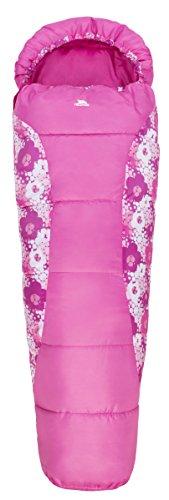 Trespass Bunka, Candyburst, Wasserabweisender Schlafsack mit Hohlfaserfüllung 170cm x 65cm x 45cm für Kinder / Unisex / Mädchen und Jungen, Rosa / Pink