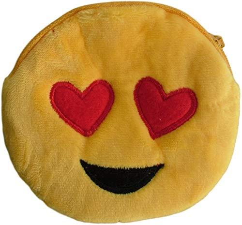 Geldbörse/Geldbörse/Geldbörse Plüsch, flauschig und ordentlich mit Design Emoji/Emoticon (Smiley, Wink, Bad, Brille, Liebe.) für kleine Kinder (Mädchen, Jungen)