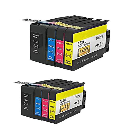 RICR Cartuchos De Tinta Remanufacturados para El Reemplazo De para HP953 XL, Compatible para HP OfficeJet Pro 7720 7730 7740 8210 8218 8710 8715 8718 8720 8725 Impresora 2set