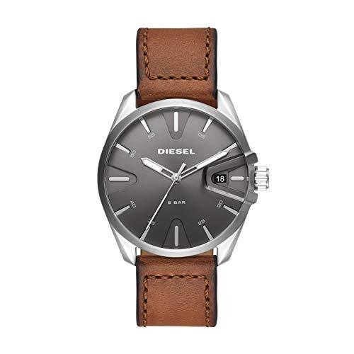Diesel Herren Analog Quarz Uhr mit Leder Armband DZ1890