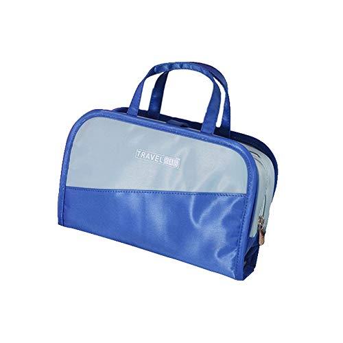 FEIGAO Kosmetiktasche,Zwei in eins kulturbeutel,PET-Faser Make up Tasche,Die Beste Kosmetiktasche für Zuhause und unterwegs(24x15x6cm)