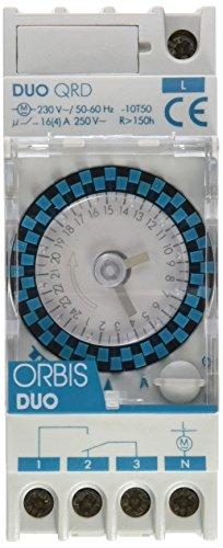 Orbis Duo QRD 230 V Interruptor horario analógico de distribución, OB292032