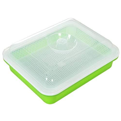 Jacqu Seed Sprouter Tray, Soil-Free Large capaciteit, met Cover Seedling Tray, Bean Sprout, Plate Hydrocultuur