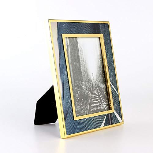15 * 21cm Marco De Fotos Borde Plano Maderas Caja De Memoria Adornado Shabby Chic Picture Poster Frames Gold