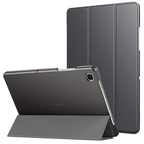 MoKo Funda Compatible con Samsung Galaxy Tab A7 10.4' 2020 SM-T500/T505/T507, Delgada Cubierta Estuche Inteligente con Soporte Plegable Función Auto Reposo/Estela Trasera Transparente, Gris Espacial
