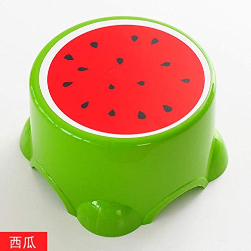 KAJI Fruits Stool Children Stool Plastic Stool Round Stool Shower Room Chairs,Watermelon