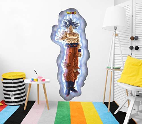 Vinilo de Pared Tamaño Real Dragon Ball Super Goku Super Sayan Producto Oficial | 55x130 cm |Vinilo para Paredes | Producto Original | Vinilo Adhesivo | Mural | Decoración Hogar | DBS