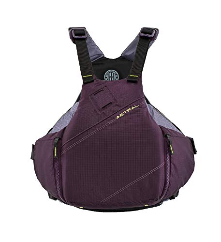 Astral YTV Life Jacket PFD for Whitewater, Touring Kayaking, Sailing and Stand Up Paddle Boarding, Eggplant, M/L