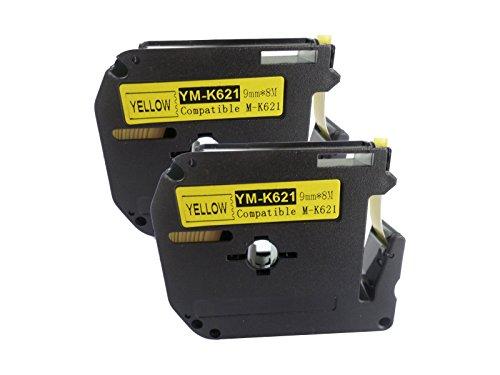 2 Stück, Kompatibel für Brother M-K621 MK621 M621 MK 621BZ, M, Gelb