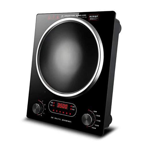 TSTYS Food de inducción - Escritorio/Embedded 2 Cocina de inducción 3500W Estufa de cerámica eléctrica de Alta Potencia, Panel Resistente a Alta Temperatura (Color : Black)