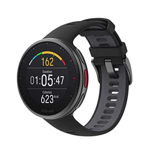 Polar Vantage V2 - Premium Multisport GPS Smartwatch, Registro de Frecuencia Cardíaca en la muñeca para Running, Natación, Ciclismo, Reloj inteligente, Controles de Música, Predicción Meteorológica