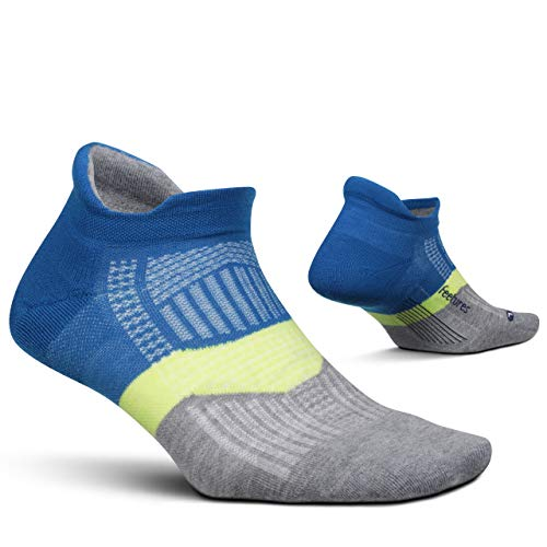 Feetures Elite Max Cushion No Show Tab Sock Stripe - - Medium