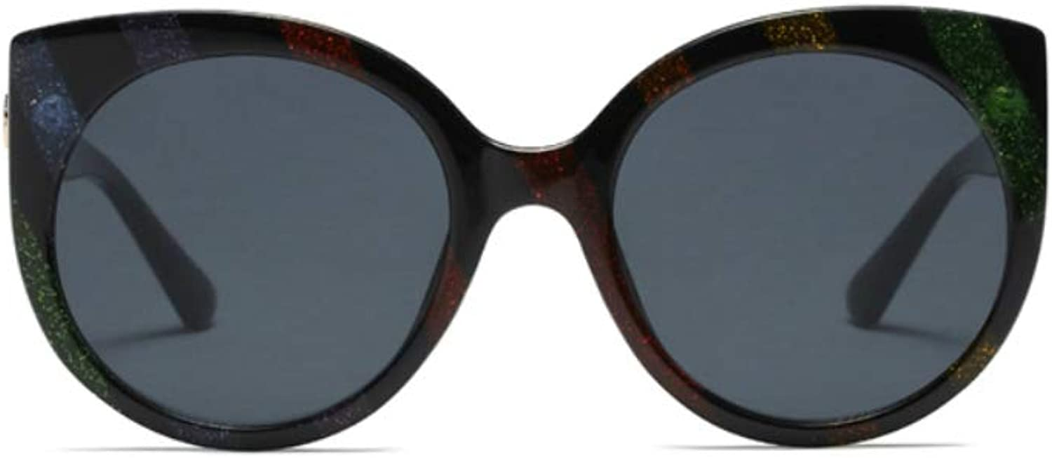 Large Butterfly Sunglasses for Women Semi Cateye Glasses Rounded Plastic Frame