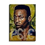 Pele Brasilien Leinwand-Kunst-Poster und Wand-Kunstdruck,