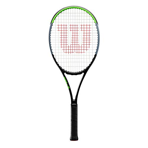 Wilson Tennisschläger, Blade 101L V7.0, Unisex, Erwachsene, Griffgröße: 4 1/4, Graphit, schwarz/grau/lime, WR022910U2