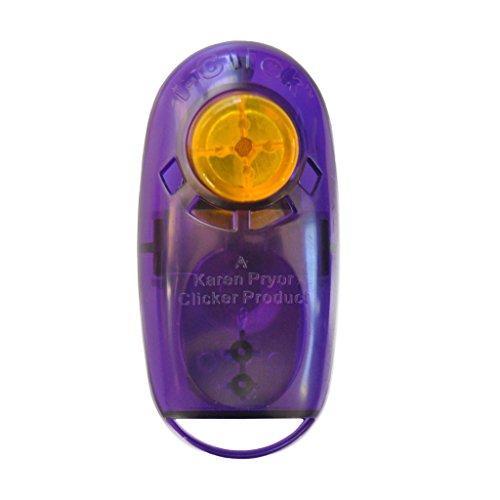 Karen Pryor Jewel i-Click Clicker - das Original Klicker für Hunde und Katzen (transluzent lila/purple)