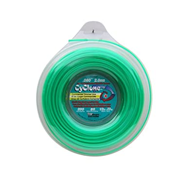Cyclone .080-Inch-by-200-Foot Spool Commercial Grade 6-Blade 1/2-Pound Grass Trimmer Line, Green CY080D1/2-12