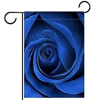 ホームガーデンフラッグ両面春夏庭屋外装飾 28x40inch,ブルーローズアート