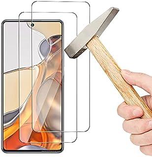 واقي شاشة OIATROE [قطعتان] لجهاز Xiaomi 11T Pro ، فائق النحافة HD 2.5D برو-فيت واقي شاشة من الزجاج المقوى الممتاز شفاف