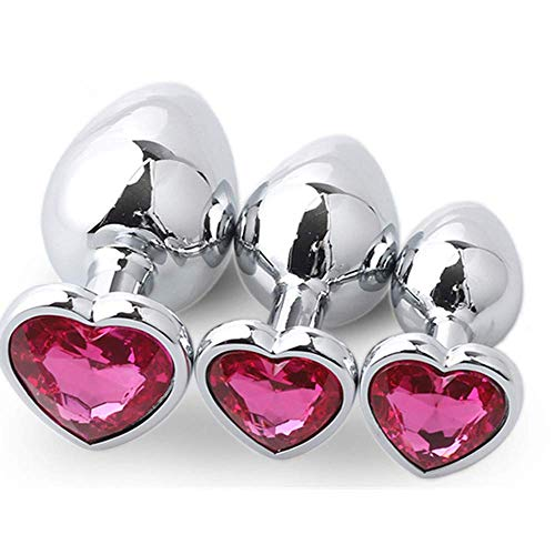 self thrusting 3PCS Metal Training Toy a forma di cuore per lui o lei