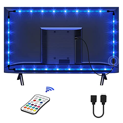 Tira LED TV 2.2M, LED RGB SMD 5050 Tiras LED USB Impermeable con Control Remoto, 16 RGB Colores y 4 Modos, Retroiluminacion LED de TV para HDTV/PC Monitor (40-60 Pulgada)