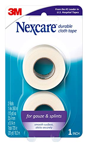 3M Nexcare Durable Cloth First Aid Tape 2/Pkg-20Yds