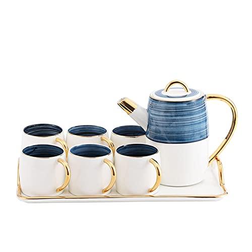 Taza de café de cerámica ligera de lujo Phnom Penh Tarde té taza de agua con bandeja hervidor frío taza platillo cuchara Set