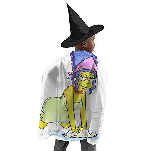 CrazyCoolArt Margr Simpson - Juego de disfraz de bruja para Halloween, disfraz de bruja