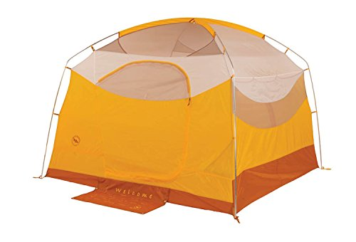 Big Agnes Big House Deluxe Camping Tent, Gold/White Color, 6 Person
