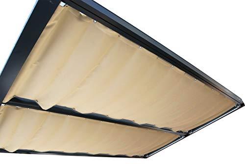 Heim und Hobby Seilspann Markise (1155 x 3900 mm, Sandstone)