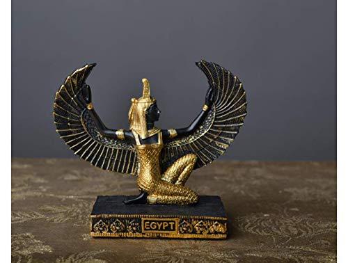 Mnjin Decoracin del hogar Decoracin egipcia Estatua, Diosa de la Belleza Estatua Dios Egipcio Estatua Escultura de ISIS Dios de la Tierra, B
