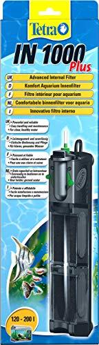 Tetra IN 1000 Plus Filtro Interno per Acquari, Comodo e Potente, Filtro Interno per Il Filtraggio Meccanico, Biologico e Chimico