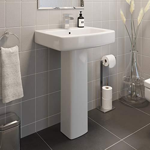 Affine Modern Bathroom Wash Basin Sink Full Floorstanding...
