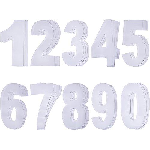 Pangda Pegatina de número de basurero con números adhesivos de auto 40 Piezas